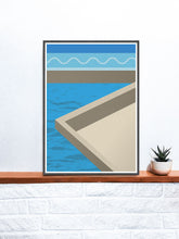 Load image into Gallery viewer, The Water Below Geometric Shape Art on a shelf