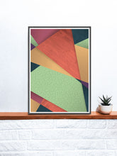 Load image into Gallery viewer, Wilted Flower Floral Geometric Printon a shelf