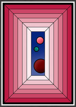 Load image into Gallery viewer, The Window Abstract Surreal Art in frame