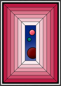 The Window Abstract Surreal Art in frame