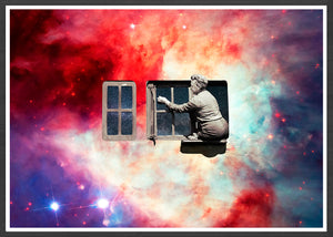 Window in the Sky Collage Poster