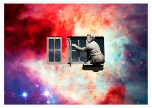 Window in the Sky Collage Art Print