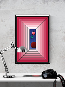 The Window Abstract Surreal Art in a frame on a wall