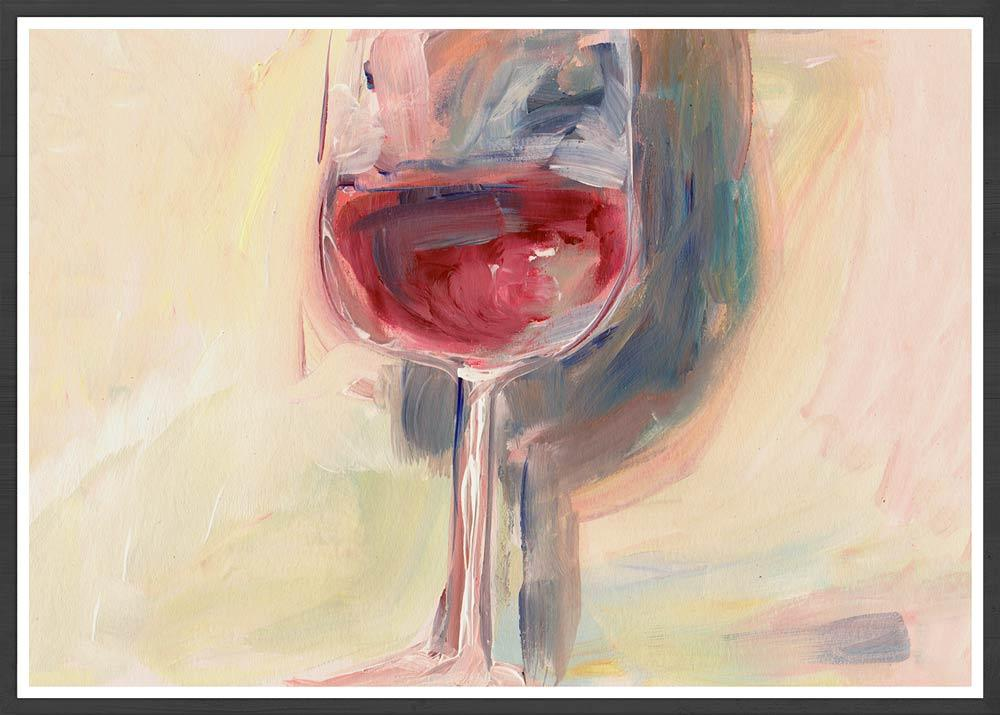 Wine is Poetry Acrylic Painting in a frame