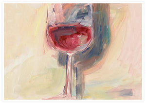 Wine is Poetry Acrylic Painting