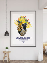 Load image into Gallery viewer, Wings to Fly Illustration Print in a frame on a large wall