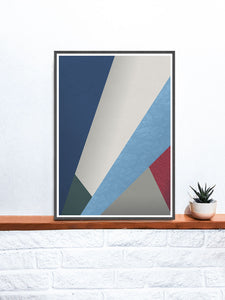 Winter Trend Geometric Poster Design on a shelf