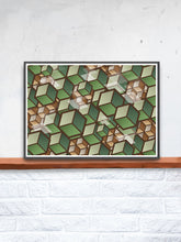 Load image into Gallery viewer, Woodland Cubes 3D Cube Wall Art on a shelf