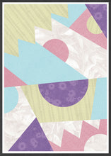 Load image into Gallery viewer, Zig Zag Pop Pastel Geometric Wall Art in a frame