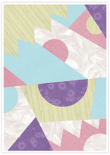 Load image into Gallery viewer, Zig Zag Pop Pastel Geometric Wall Art not in a frame