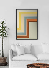 Load image into Gallery viewer, Zig Zag Retro Wall Print in a quirky room interior