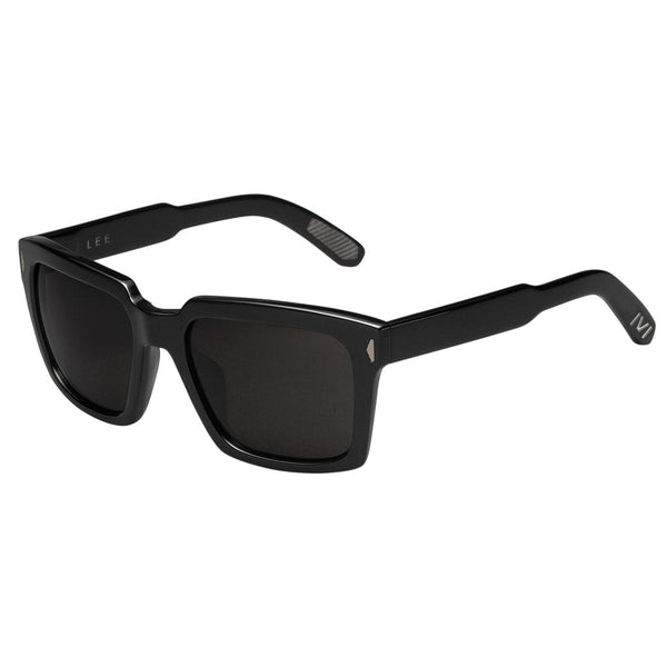Lee Polished Black/Grey Polarized Lens-Men - Accessories - Sunglasses-Luvviu