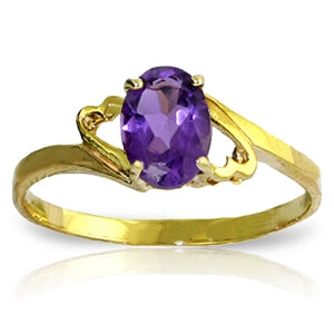 0.75 Carat 14K Solid Gold She Speculates Amethyst Ring-Gold Ring Purple Amethyst-Luvviu