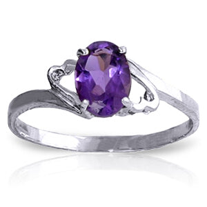 0.75 Carat 14K Solid White Gold Success By Degrees Amethyst Ring-White Gold Ring Purple Amethyst-Luvviu