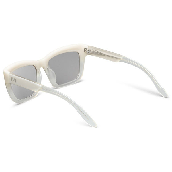 Bonnie: Polished Ivory Fade / Light Blue Chrome Flash Lens-Women - Accessories - Sunglasses-Luvviu