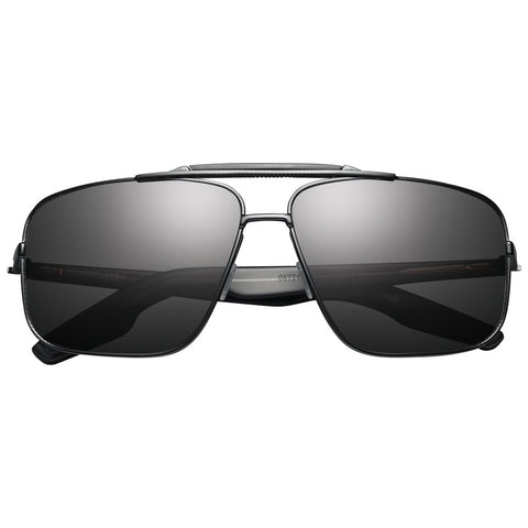 Custer: Matte Black / Grey Lens-Men - Accessories - Sunglasses-Luvviu