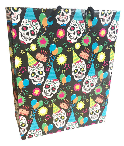 Sugar Skull Birthday Pattern Gift Bag 8x10-Luvviu