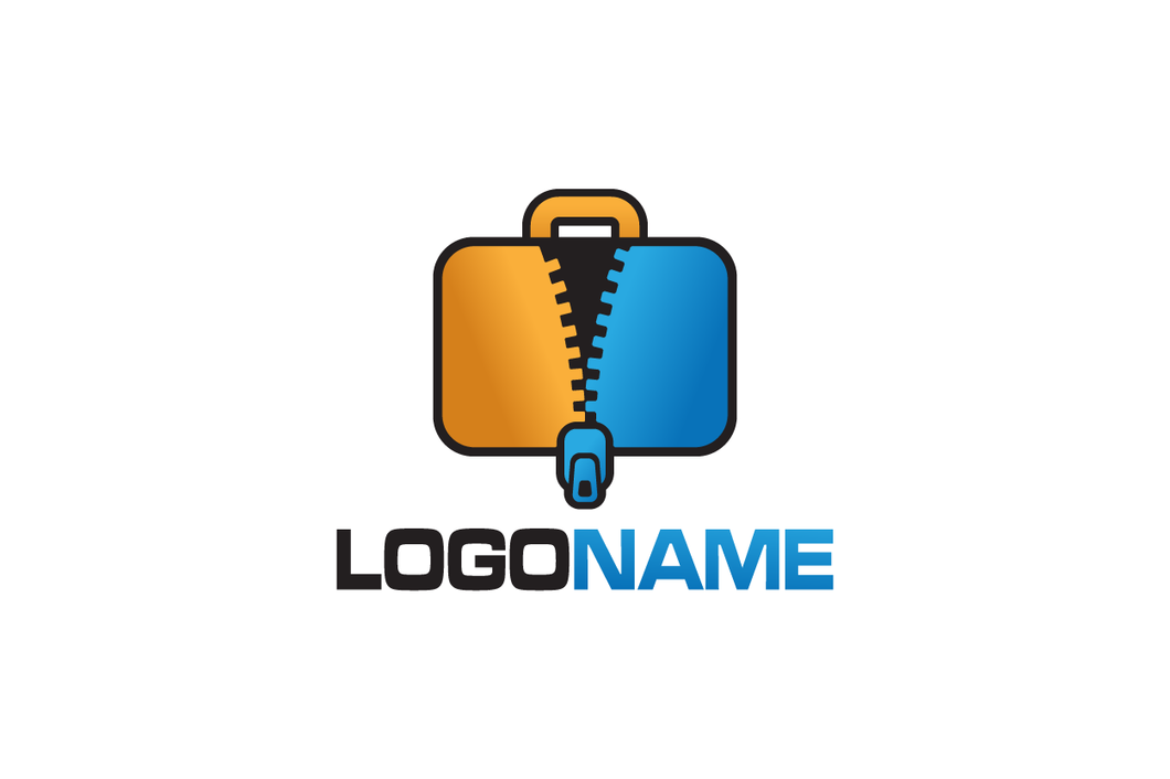 Logo Design - Luggage Unzip
