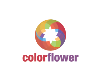 Logo Design - Color Flower