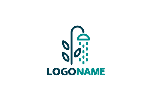 Logo Design - Shower Flower