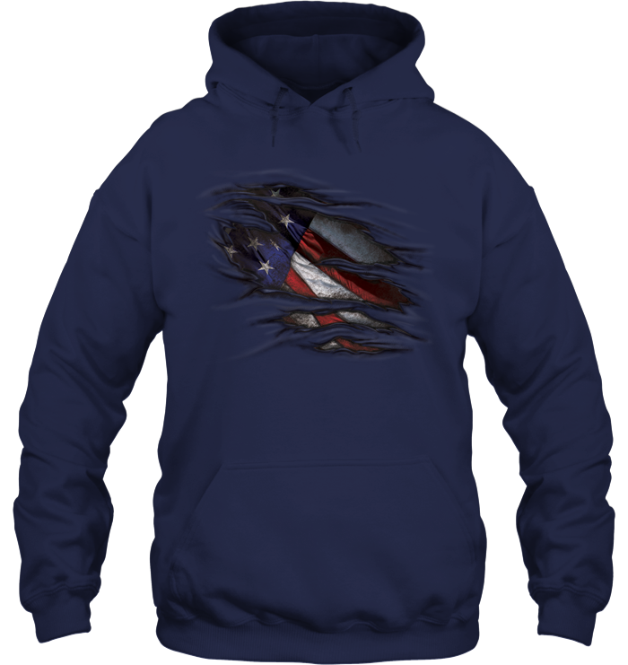 Ripped American Fabric Hoodie