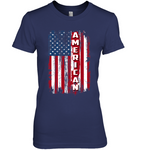 American with Distressed Flag Women's Nano