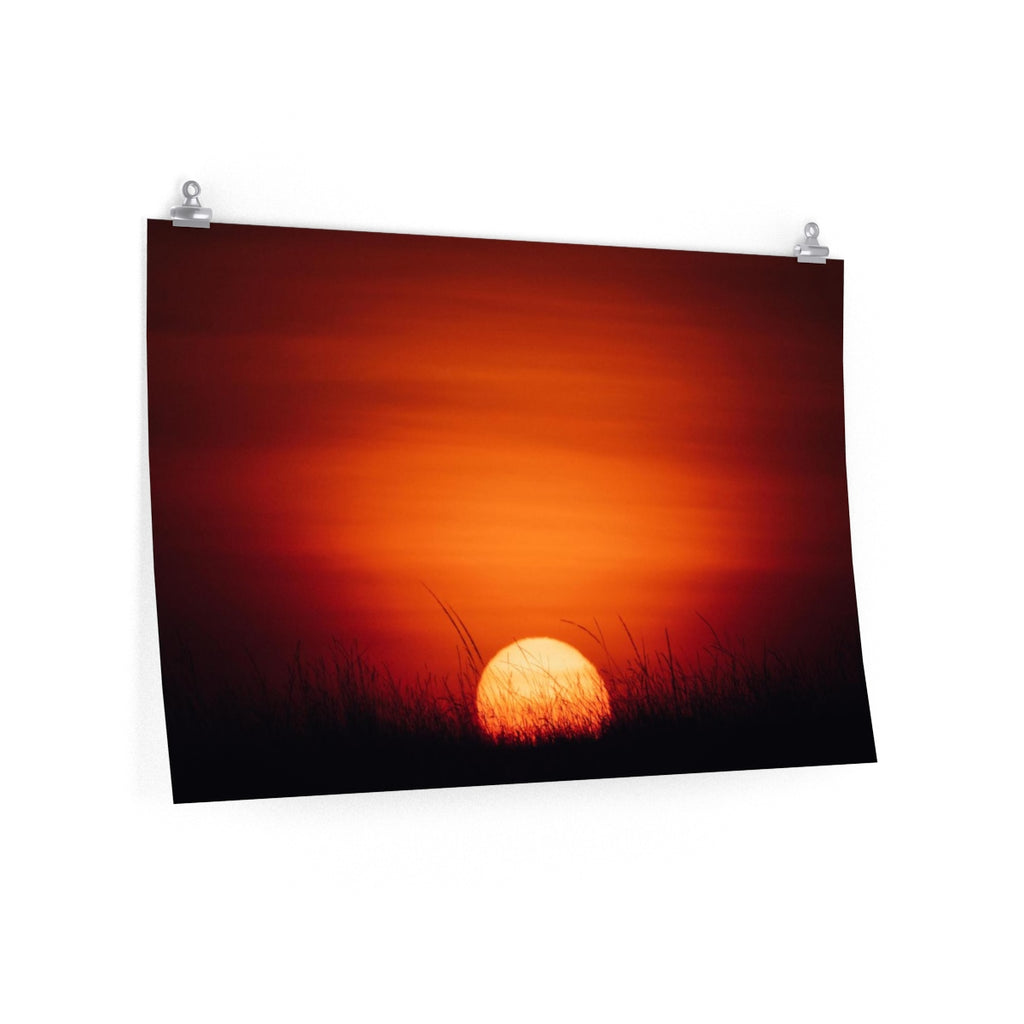 African Sunset - Wide Print