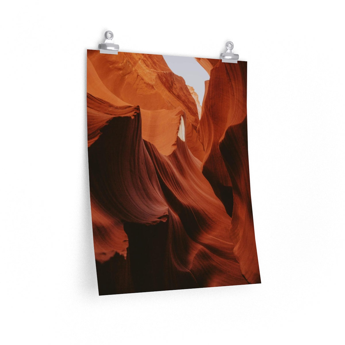 Orange Waves - Vertical Print