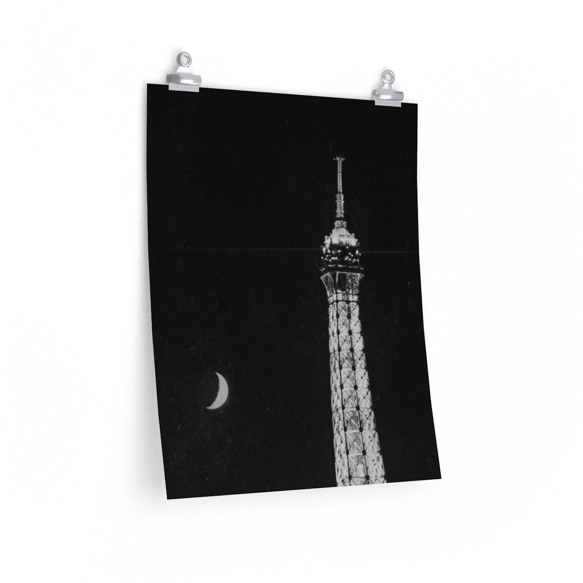 Eiffel Tower Lune - Film Vertical Print
