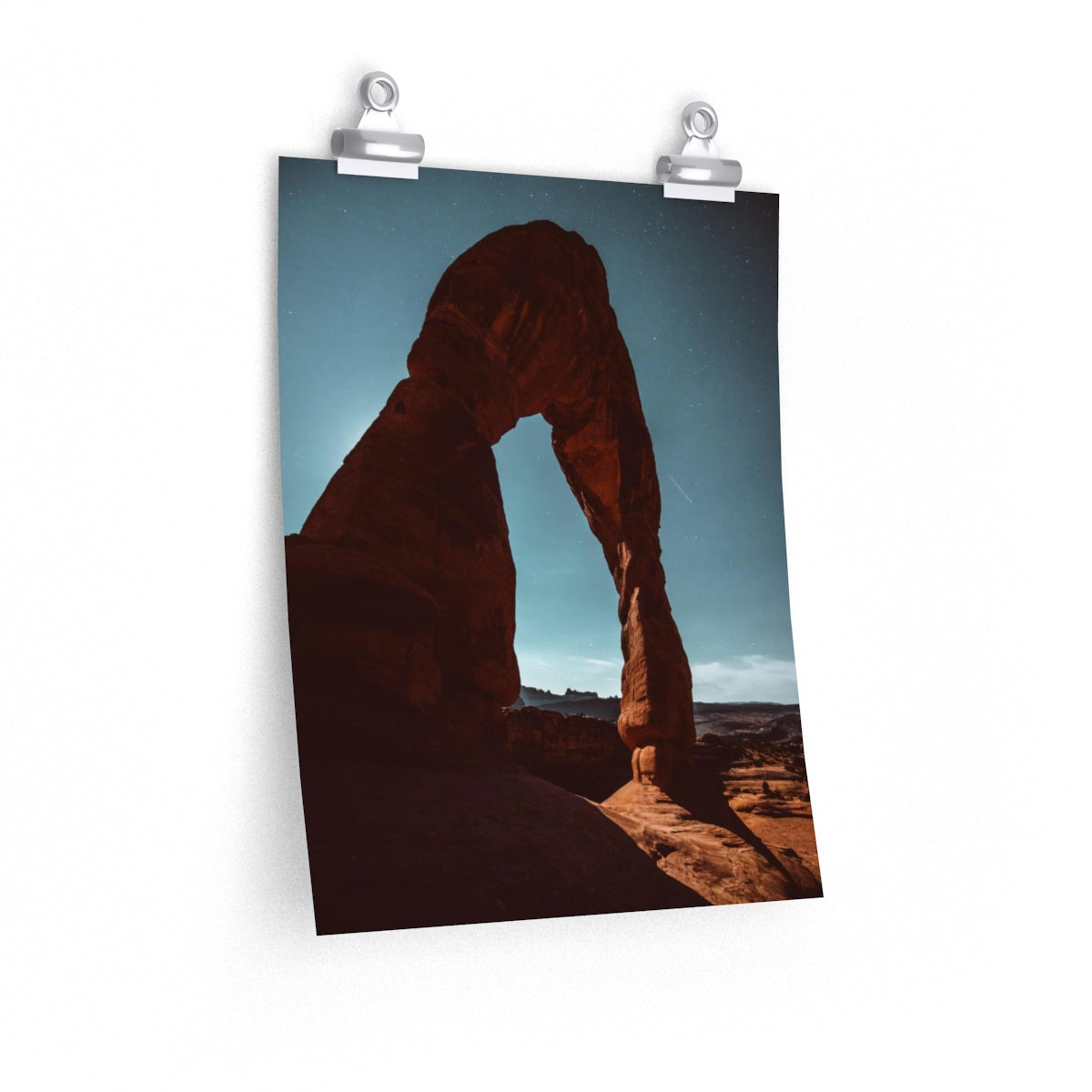 Delicate Arch at Full Moon - Vertical Print