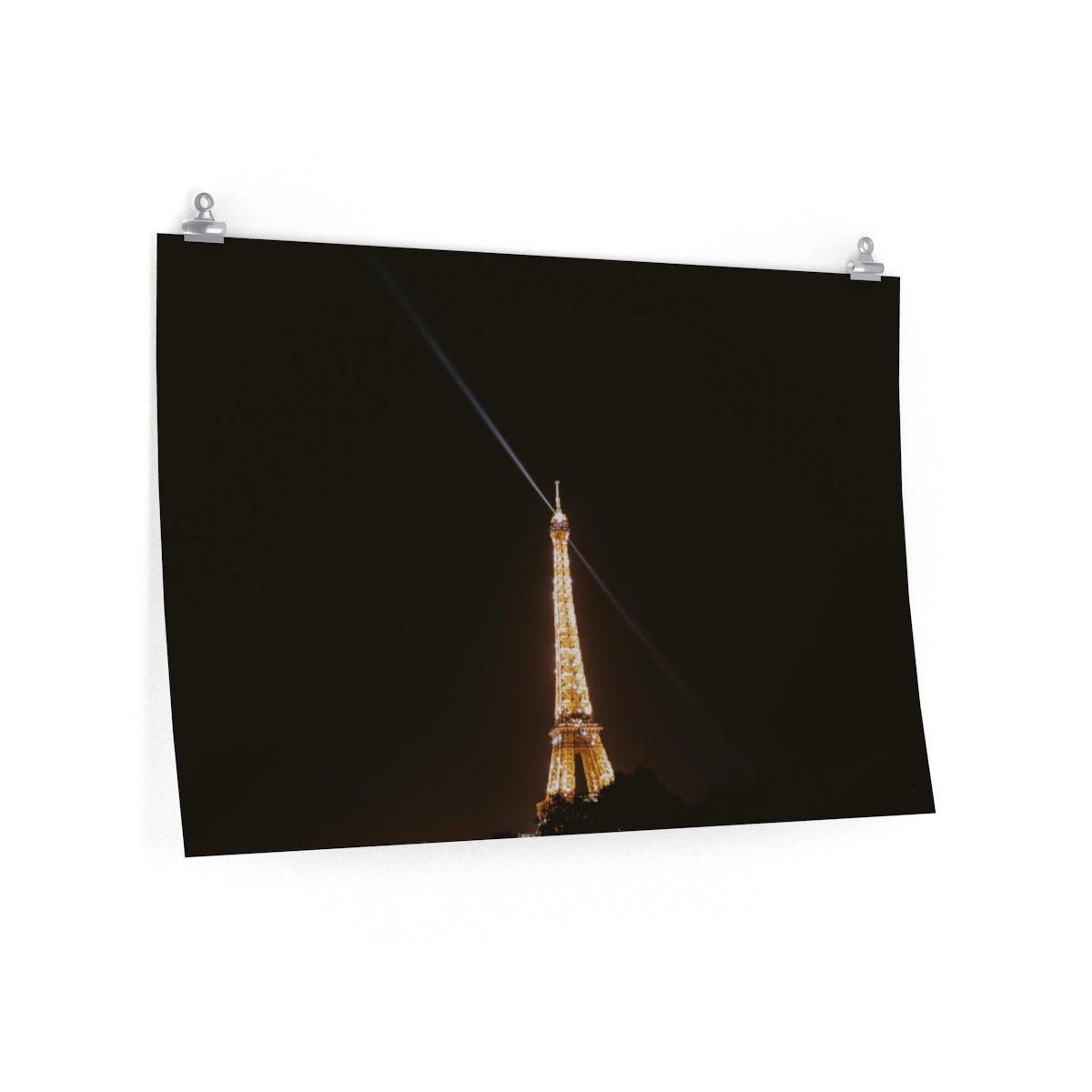 Eiffel Tower Sparkle At Night - Horizontal Print