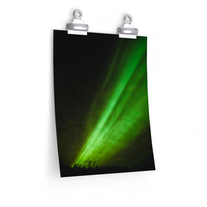 Northern Lights Swoosh - Vertical Print