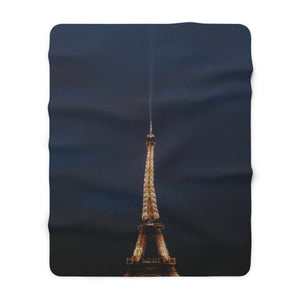 Crepes at the Eiffel Tower - Sherpa Fleece Blanket
