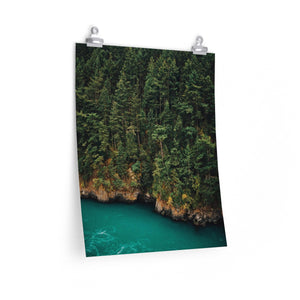 Forested River - Vertical Print