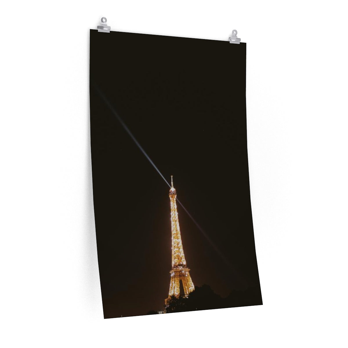 Eiffel Tower at night - Vertical Print