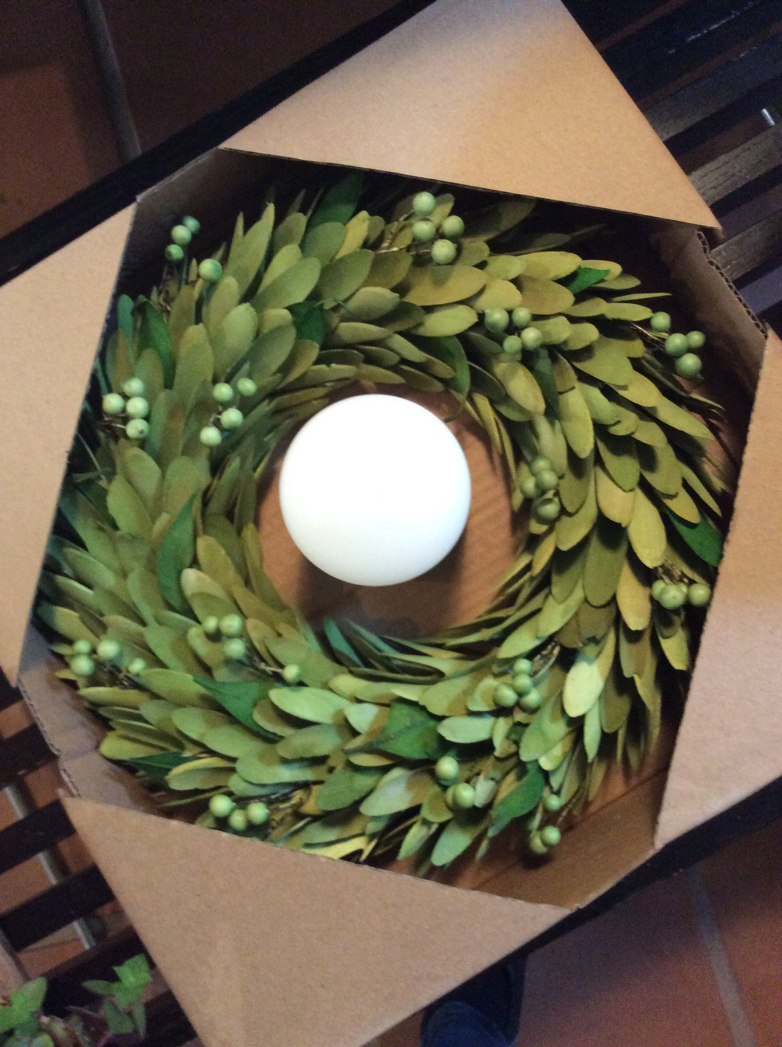 Lime Green Wreaths w/ Candle