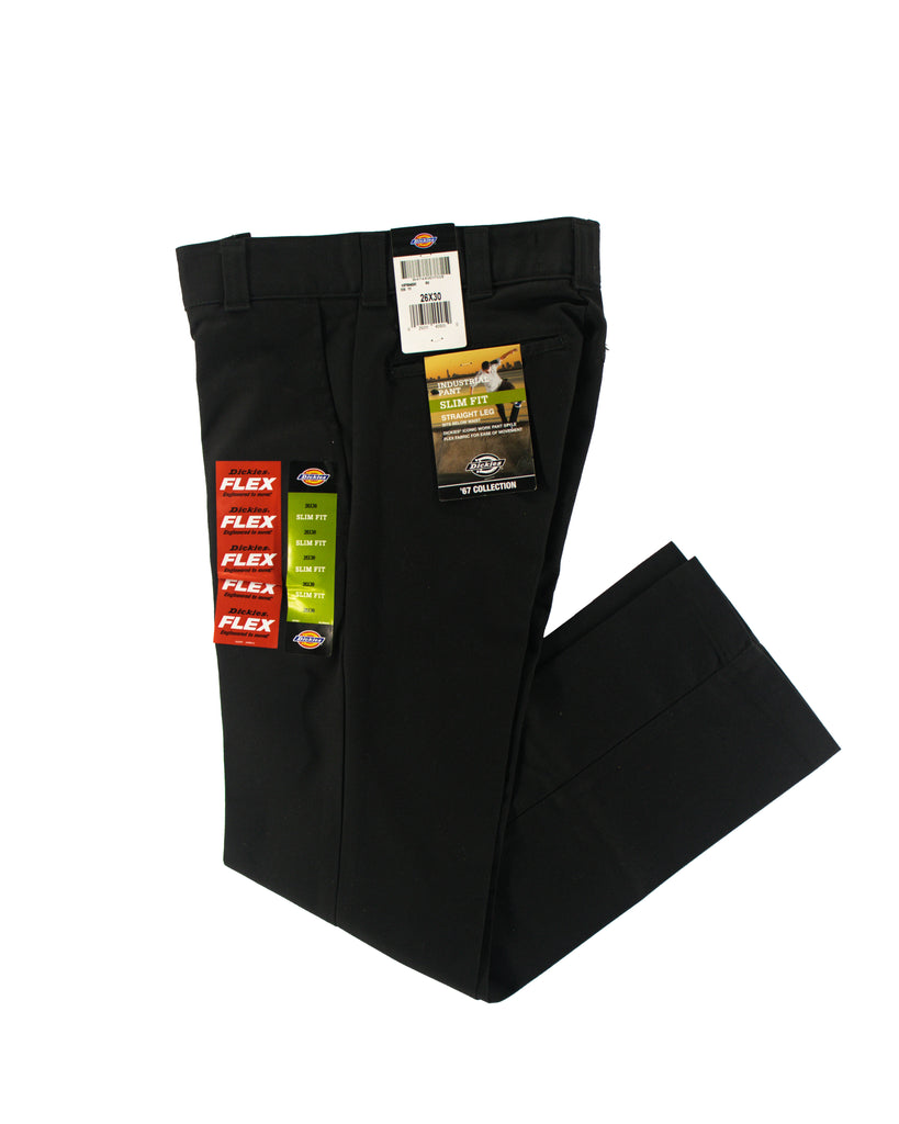 DICKIES INDUSTRIAL PANT SLIM FIT FLEX BLACK