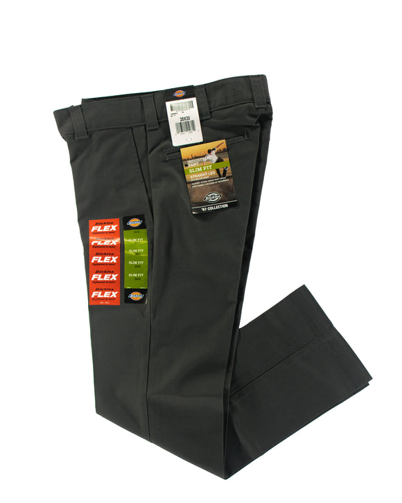 DICKIES INDUSTRIAL PANT SLIM FIT FLEX GREY
