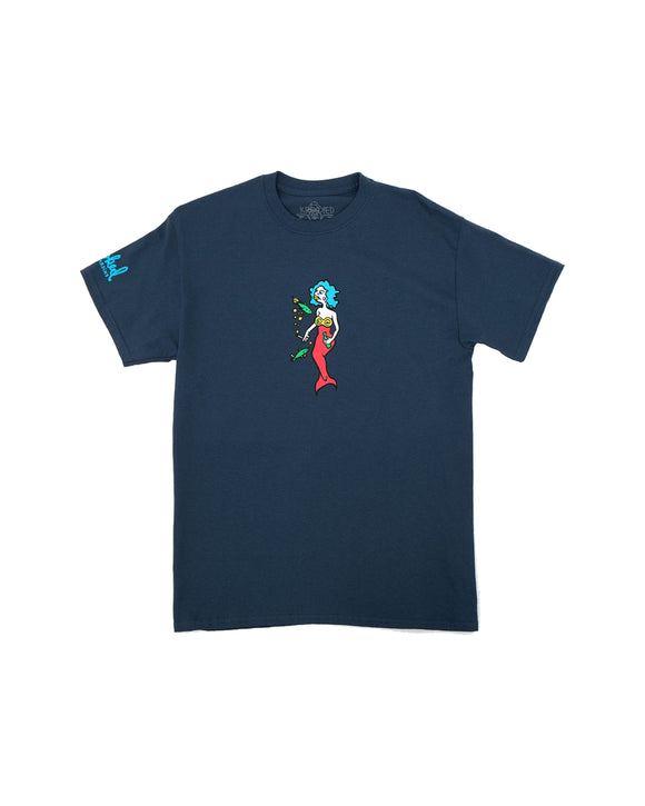 KROOKED MERMAID HARBOR BLUE SHIRT