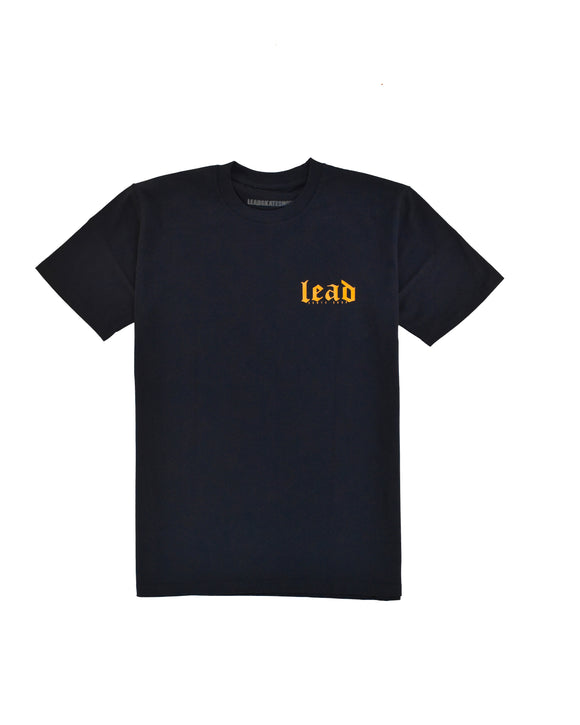 LEAD OG LOGO NAVY/ORANGE TEE