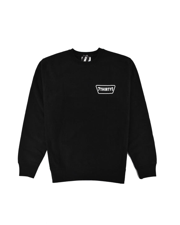 LEAD 7THIRTY1 BLACK CREWNECK