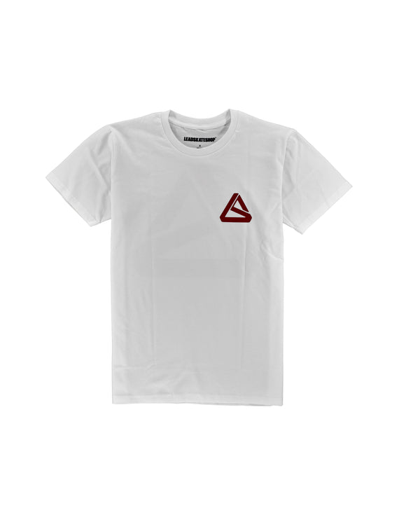 LEAD OG LS LOGO OFF WHITE/BURGUNDY TEE