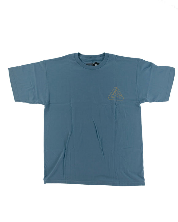 LEAD TRIANGLE LS SLATE/YELLOW T-SHIRT