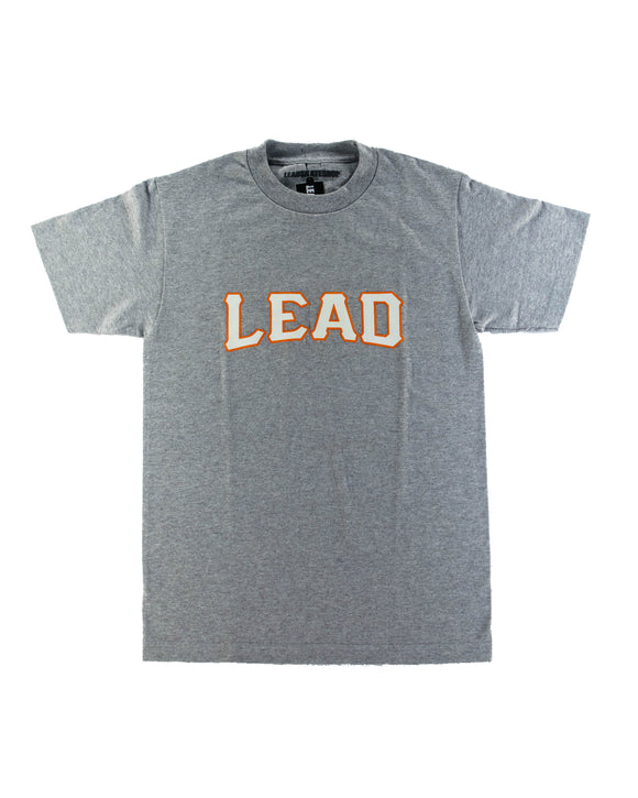 LEAD ORANGE AND WHITE GREY T-SHIRT