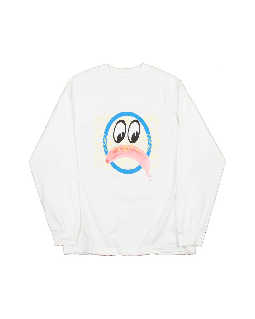 QUASI BANANA FACE WHITE LONG SLEEVE