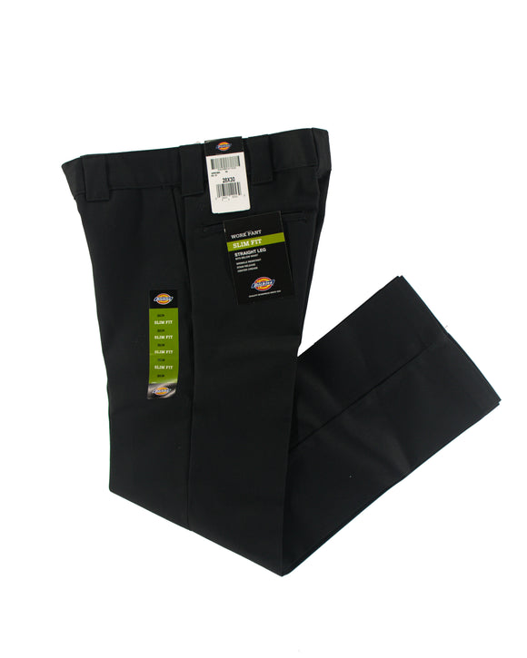 DICKIES WORK PANT SLIM FIT BLACK