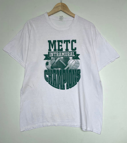 Printed College t-shirt (L)