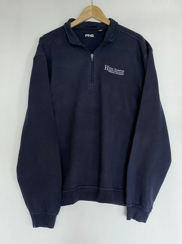 Embroidered 1/4 zip (XL)