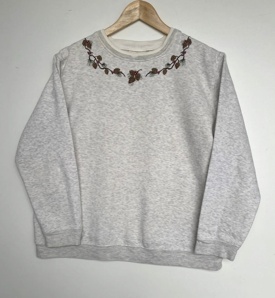Embroidered 'Acorn' sweatshirt (S)