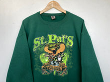 Load image into Gallery viewer, Printed 'St Pats' sweatshirt (L)